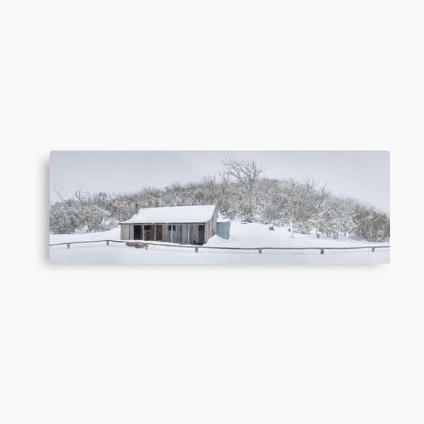 Winter Refuge, Bluff Hut, Alpine National Park, Victoria, Australia Metal Print