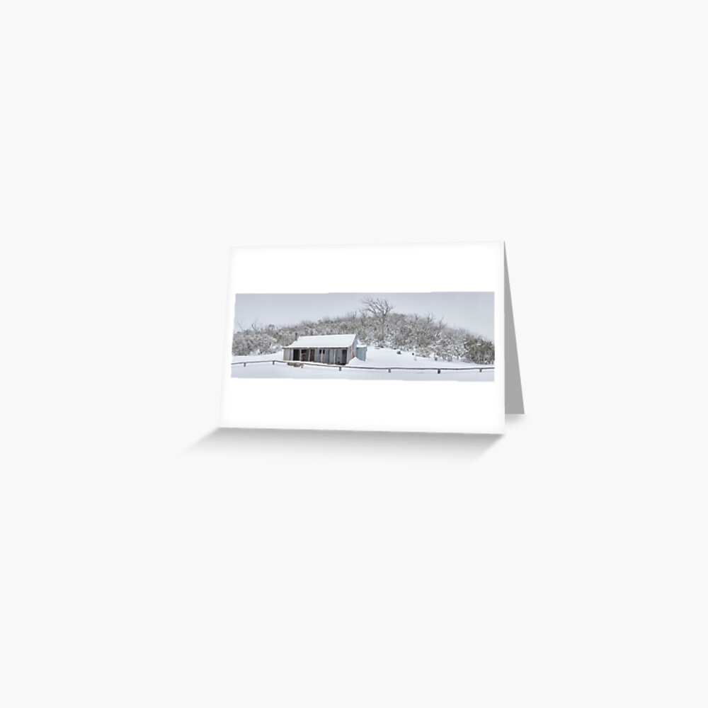Winter Refuge, Bluff Hut, Alpine National Park, Victoria, Australia Greeting Card