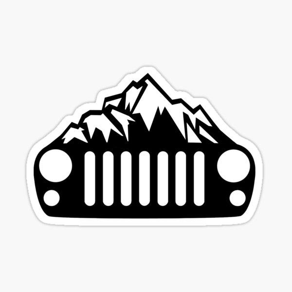 Jeep Wrangler JK / JKU Mountain Grill Sticker