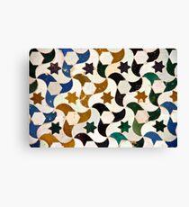 Alhambra azulejos Canvas Print