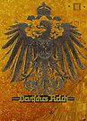 German Empire Eagle...Gustav Klimt gold background  by edsimoneit