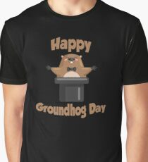 Awesome Happy Groundhog Day Graphic T-Shirt