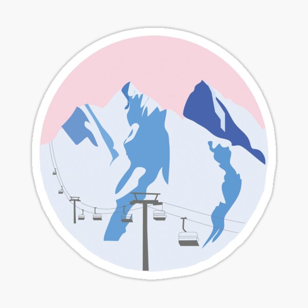 Snowy Mountains | Ski Sticker Sticker