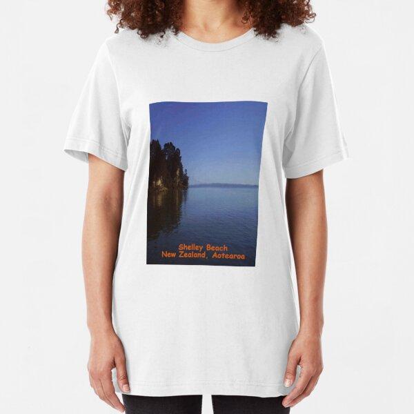 Shelley Beach, Kaipara, New Zealand, Aotearoa Slim Fit T-Shirt
