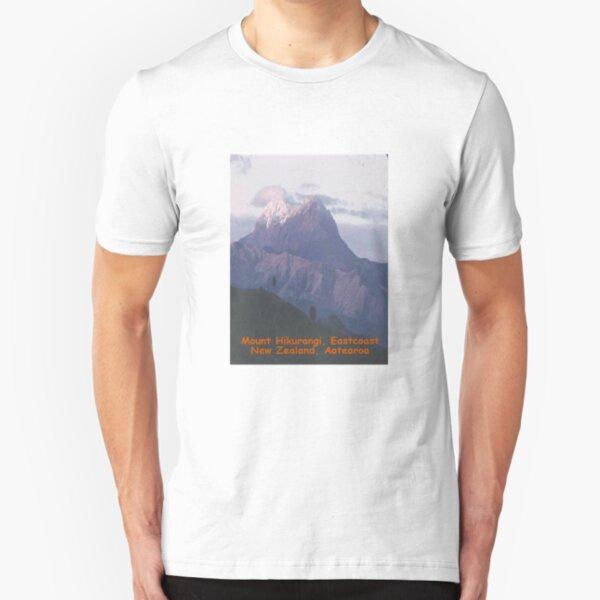 Mount Hikurangi,New Zealand, Aotearoa Slim Fit T-Shirt