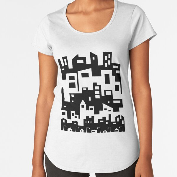 Stacked City Scape Premium Scoop T-Shirt