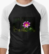 Vivid Flower Baseball ¾ Sleeve T-Shirt