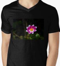 Vivid Flower V-Neck T-Shirt