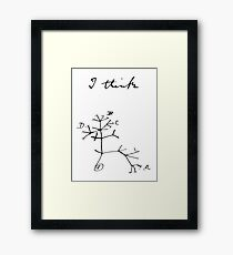Darwin - Tree of Life - I Think Framed Print