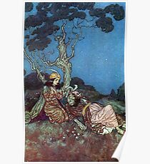 Beauty Agrees to Marry the Beast - Beauty and the Beast - Edmund Dulac Poster