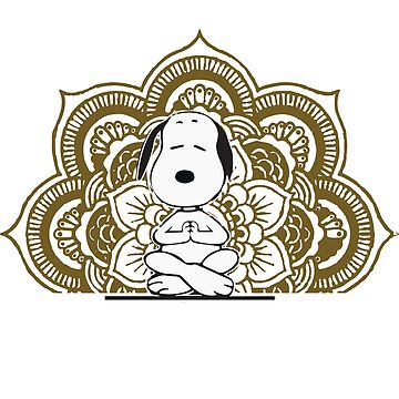 Snoopy Dog Funny Yoga Pose Heavily Meditated by arrowroottees