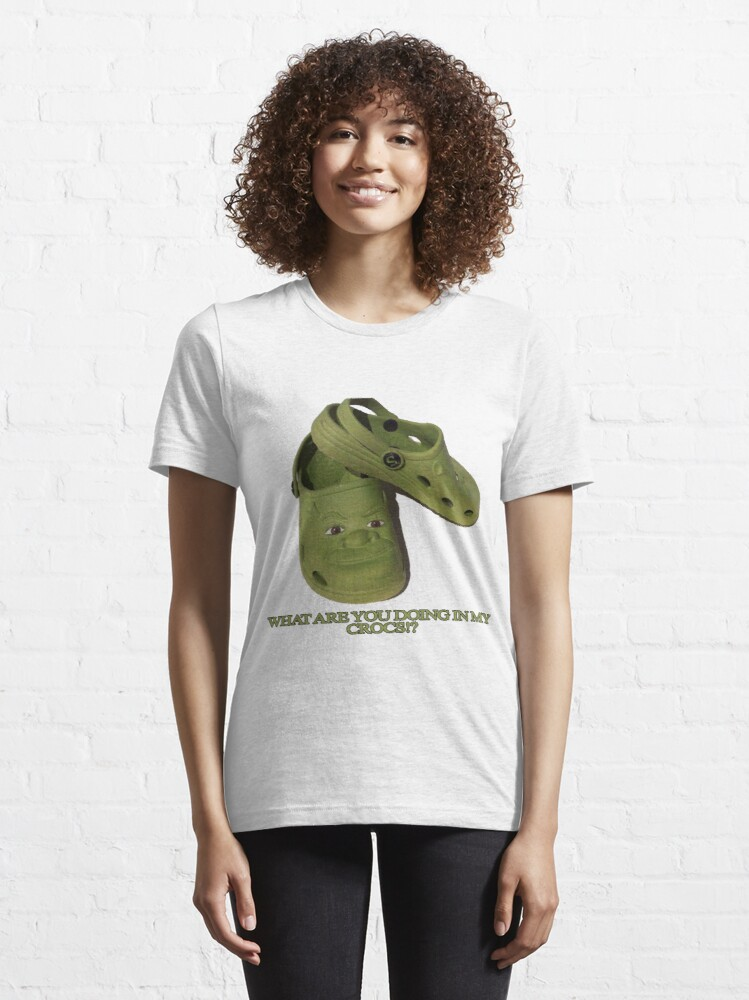 Alternate view of What are you doing in my Shrek Crocs Essential T-Shirt