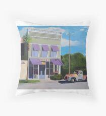 Bookstore in Apalachicola Florida Throw Pillow