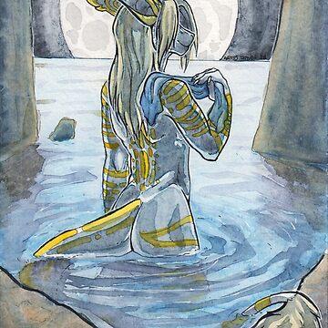 Moonlit Bath by Temrin