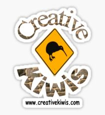 Creative Kiwis, New Zealand, Aotearoa Sticker