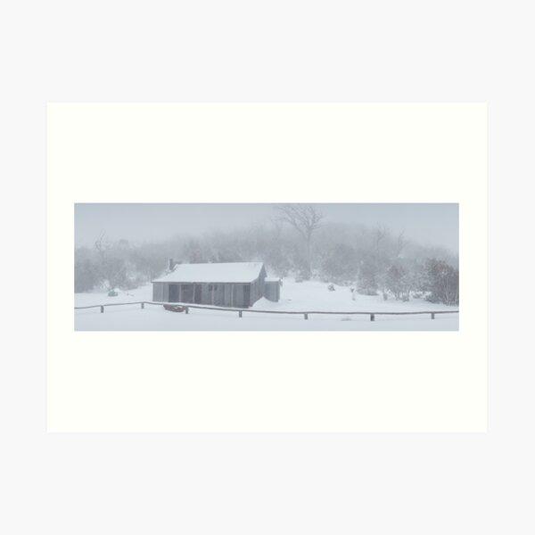 Snow Storm, Bluff Hut, Alpine National Park, Victoria, Australia Art Print