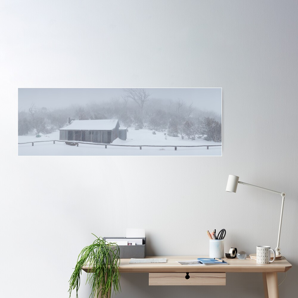 Snow Storm, Bluff Hut, Alpine National Park, Victoria, Australia Poster