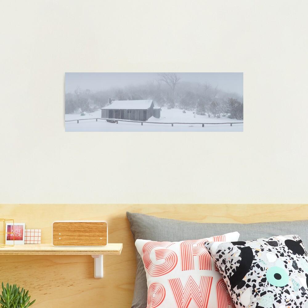Snow Storm, Bluff Hut, Alpine National Park, Victoria, Australia Photographic Print