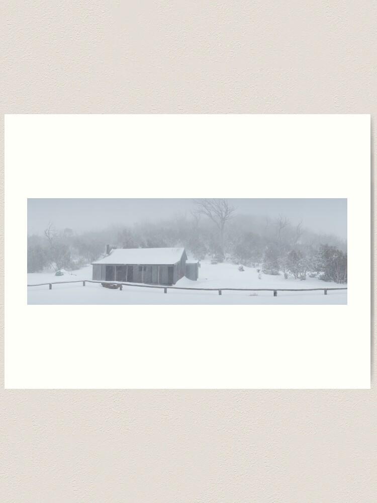 Alternate view of Snow Storm, Bluff Hut, Alpine National Park, Victoria, Australia Art Print