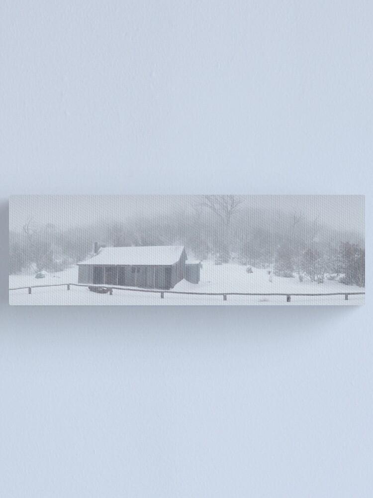 Alternate view of Snow Storm, Bluff Hut, Alpine National Park, Victoria, Australia Canvas Print