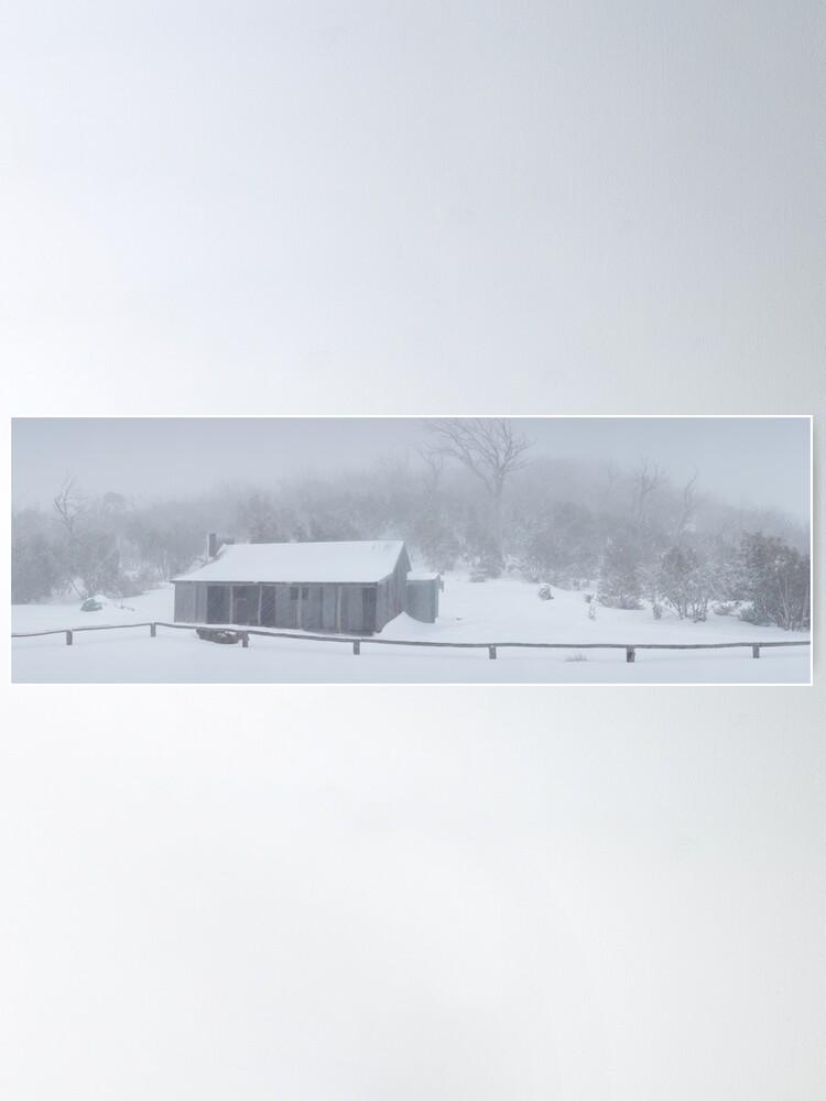 Alternate view of Snow Storm, Bluff Hut, Alpine National Park, Victoria, Australia Poster