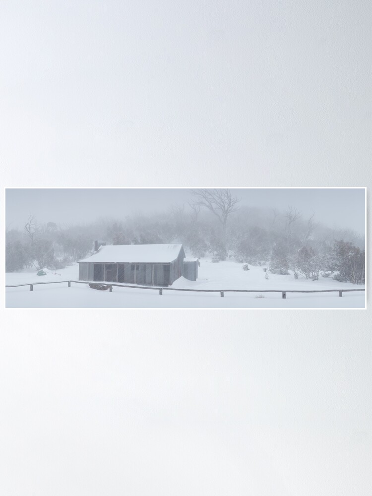 Alternate view of Snow Storm, Bluff Hut, Alpine National Park, Victoria, Australia Poster