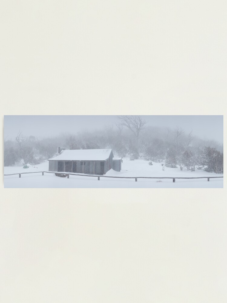 Alternate view of Snow Storm, Bluff Hut, Alpine National Park, Victoria, Australia Photographic Print
