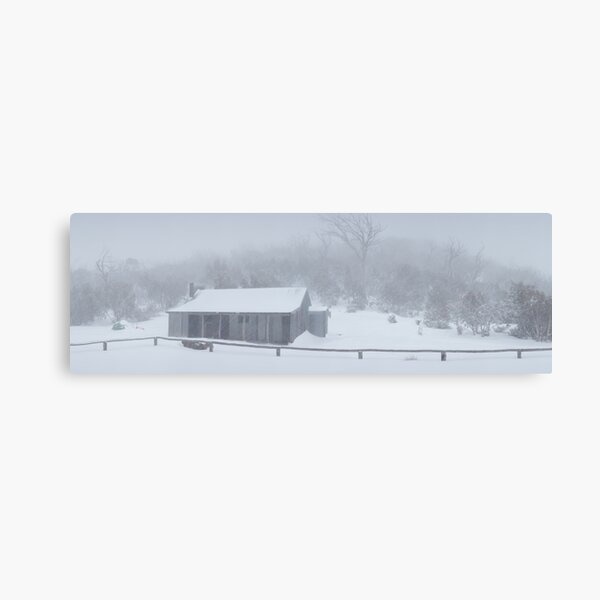 Snow Storm, Bluff Hut, Alpine National Park, Victoria, Australia Canvas Print