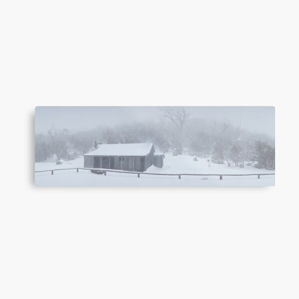 Snow Storm, Bluff Hut, Alpine National Park, Victoria, Australia Metal Print