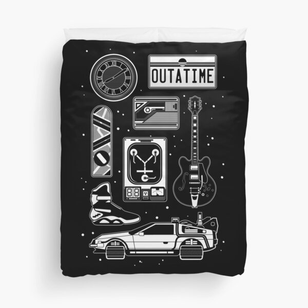 BTTF Icon Set Duvet Cover