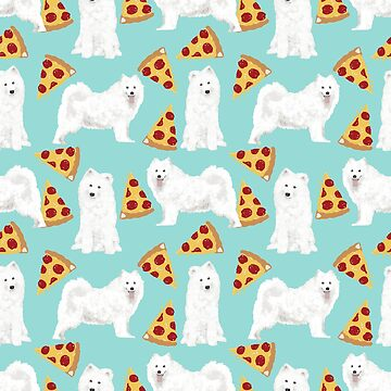 Samoyed Dog Pizza by PetFriendly