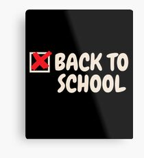 Back To School Gift First Day Of School Student Teacher Metal Print