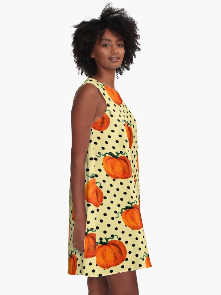 Alternate view of Pop Art Cascading Pumpkins A-Line Dress