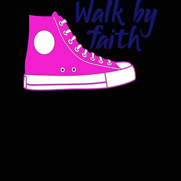 Religious Walk By Faith Pink Sneaker by stacyanne324