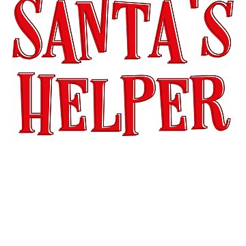 Santa's Helper Elf Merry Christmas Funny Humor Kids Or Adults by Cameronfulton