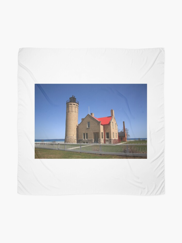 Alternate view of Lighthouse - Mackinac Point, Michigan Scarf
