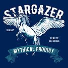 Unicorn Stargazer Mythical Fantasy Horse by scooterbaby