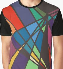 Multi-Color Triangles Abstract Graphic T-Shirt