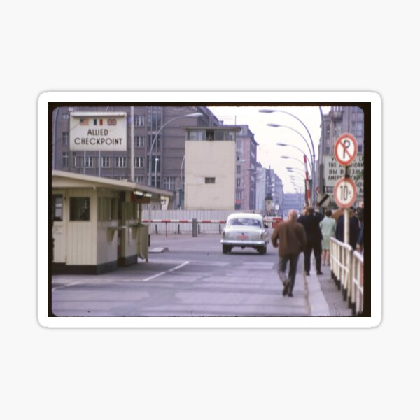 Check Point Charlie, West Berlin, Germany 1970 Sticker