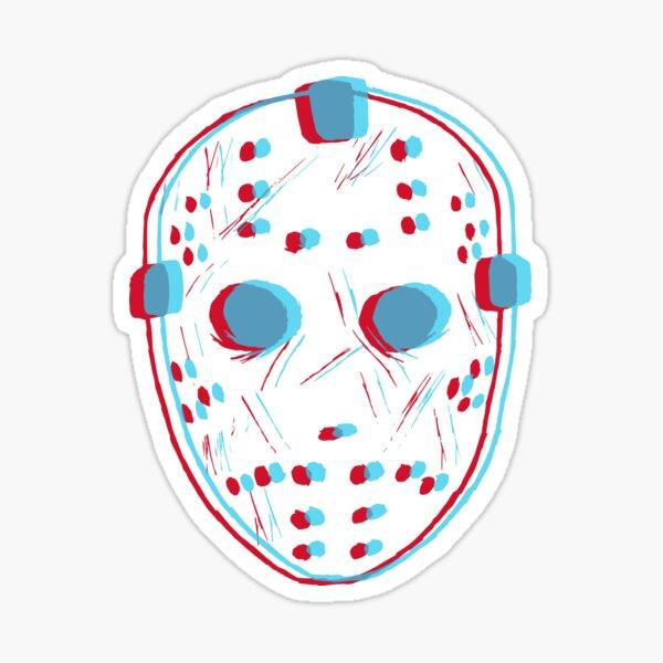 3D Friday Mask Sticker