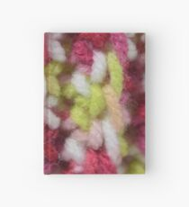 Pink and Green Crochet Stitches Hardcover Journal