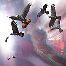 Red Tails In Flight by Wendy  Slee