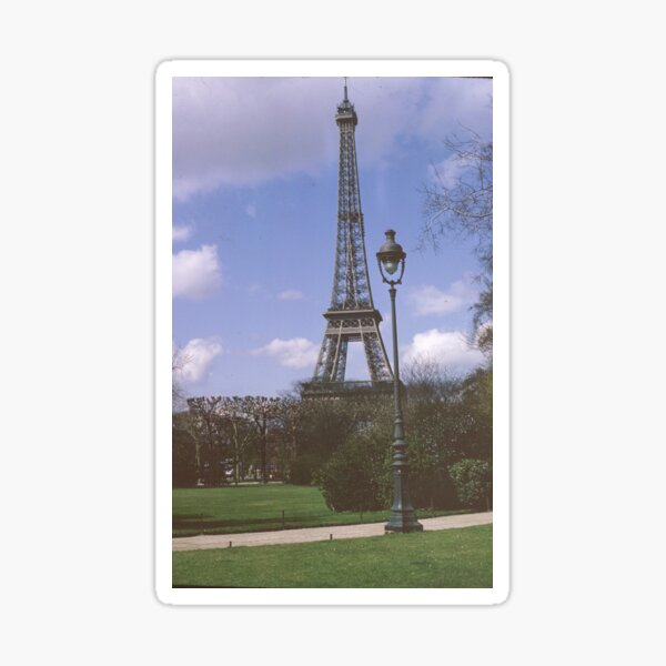 Eiffel Tower, Paris, France,1970 Sticker