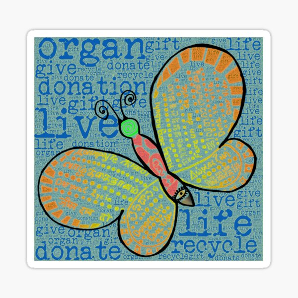 d0n8life Butterfly with Words Sticker