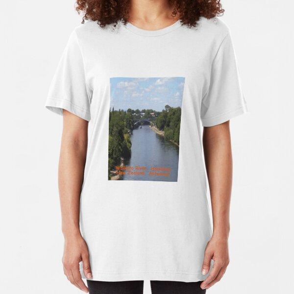 Waikato River, New Zealand Aotearoa Slim Fit T-Shirt