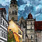 Coburg Germany watercolour painting by derekmccrea