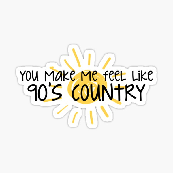 Pays des années 90 Sticker