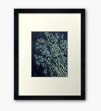 modern abstract oil painting Framed Print