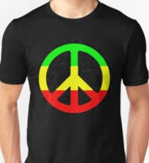 Rasta Peace Sign Unisex T-Shirt
