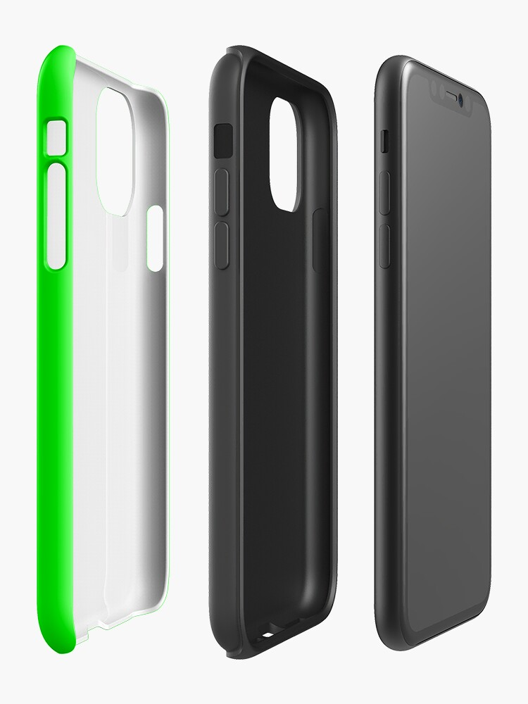 Alternate view of Neon Green iPhone Case & Cover